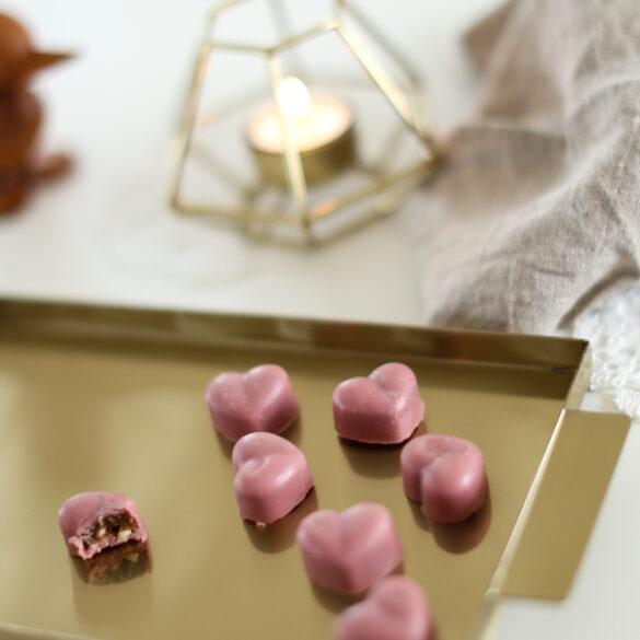 fyldte valentinschokolader