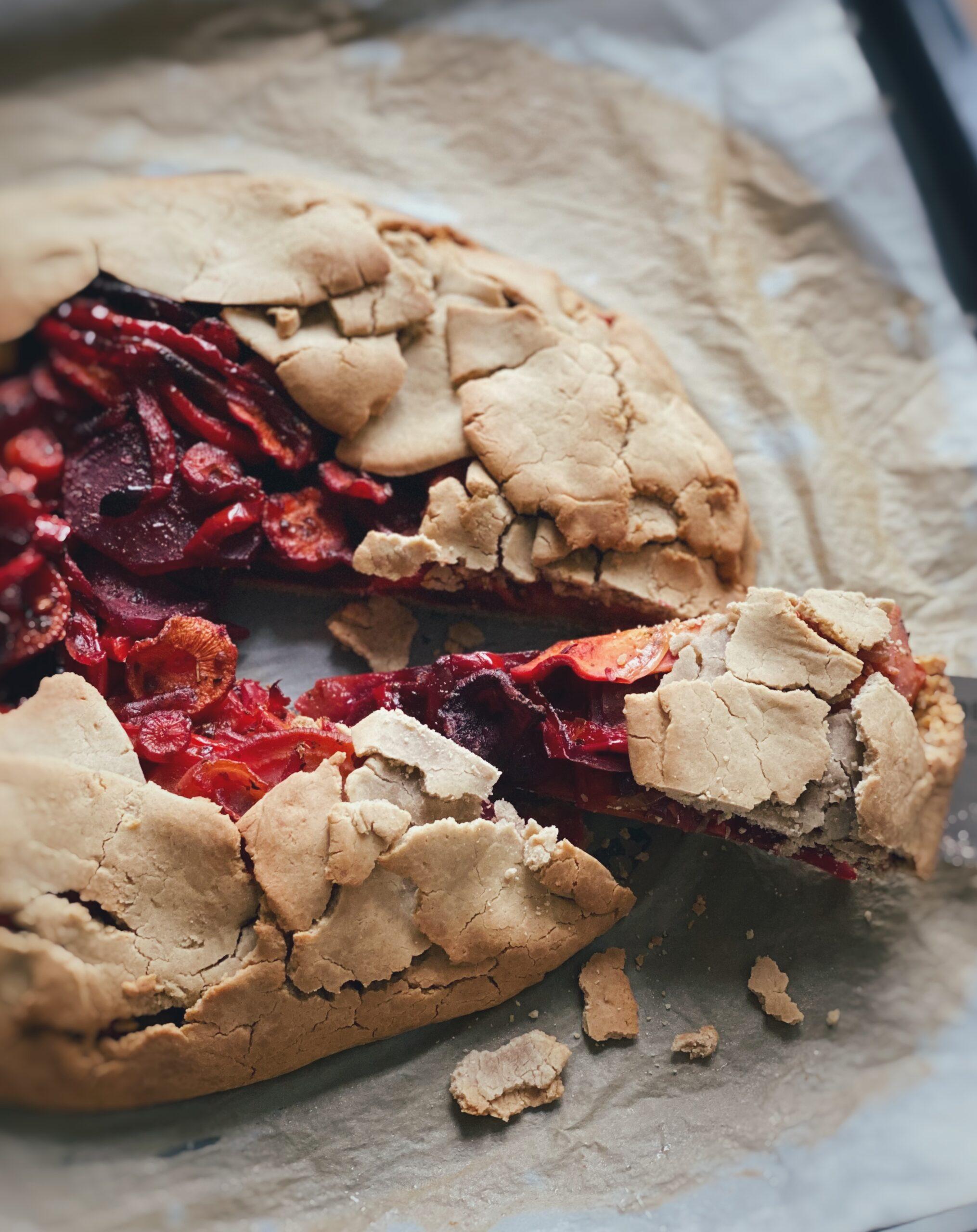 Glutenfri galette med rodfrugter